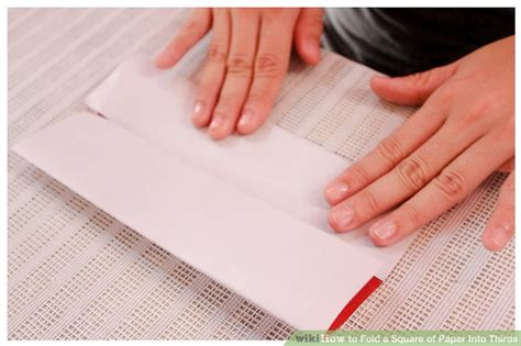 How To Fold A Of Paper Into 3 - how to fold a square of paper into thirds 12 steps