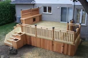 Cedar amp wood patio deck modern deck montreal by patio deck art