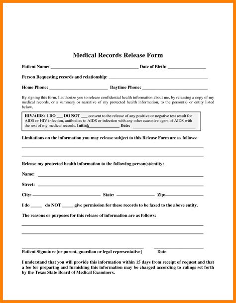 8 medical release form templates daily log sheet
