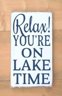 Wood Wall Decor Sayings Lake Time Quotes Quotesgram