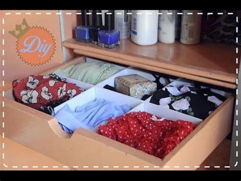 como guardar ropa interior diy como hacer un organizador de ropa interior youtube