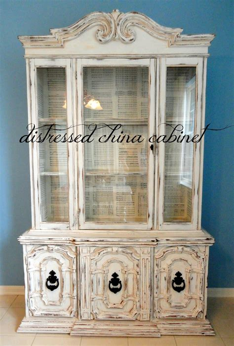 pictures of china cabinets s nest distressed china cabinet