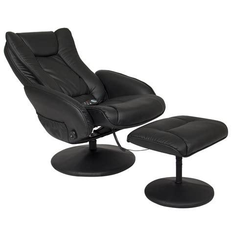 massage ottoman bcp leather massage recliner and ottoman set w double