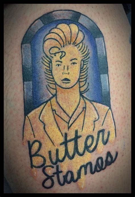 butter tattoo butter stamos butterstamos