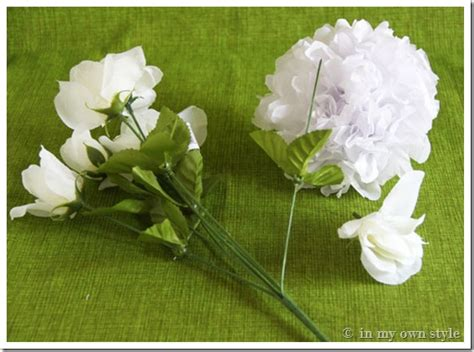 How To Make Artificial Flowers With Paper - transform flowers to look real in my own style