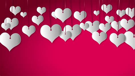 design background love valentine s day white heart flying on red background