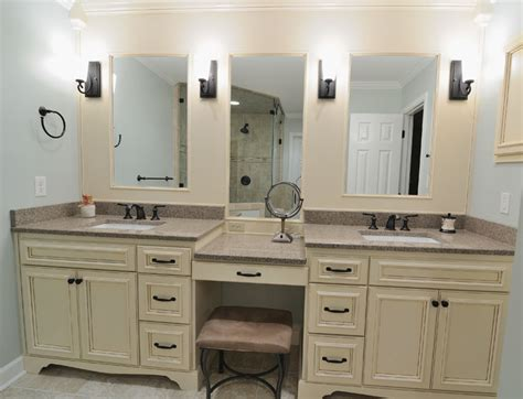Built In Bathroom Vanities Bathroom Vanity With Makeup Counter Makeup Wordplaysalon