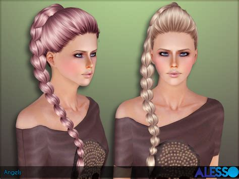 sims 3 hair braid tsr the sims resource over anto angels hair