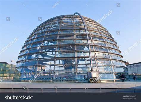 the cupola cupola on top reichstag building berlin stock photo