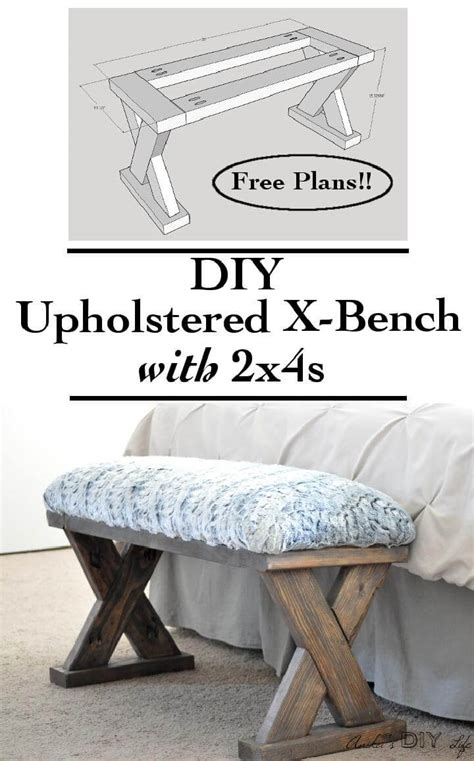 x bench diy 40 brilliant diy furniture projects that are easy to make