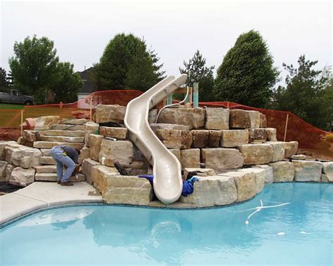 pool designs with slides pool slides custom pool slides more photos click here