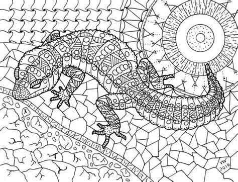 lizard coloring pages for adults 263 best images about adult colouring dragons lizards