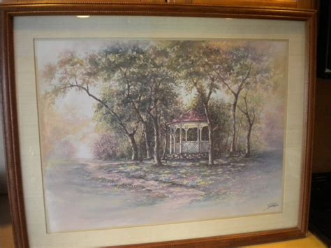 vintage home interiors joe sambataro framed matted gazebo in springtime picture ebay