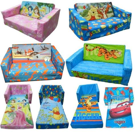 children s couch bed disney character childrens flip out double foam sofa