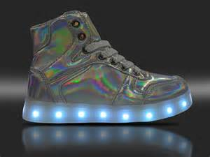 chagne colored flats 7 changing colors laser light up shoes for boys