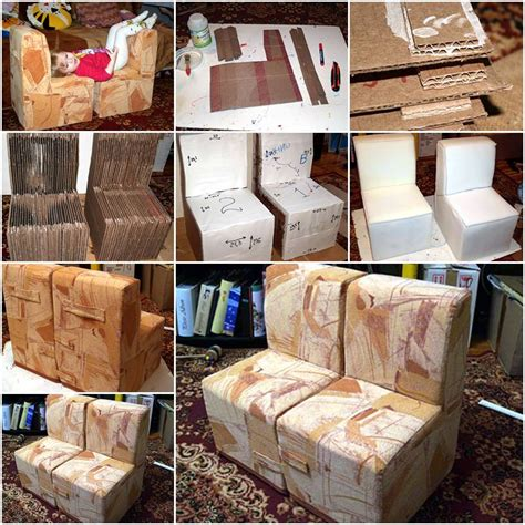 diy upholstery instructions how to make cool cardboard children sofa chair step by