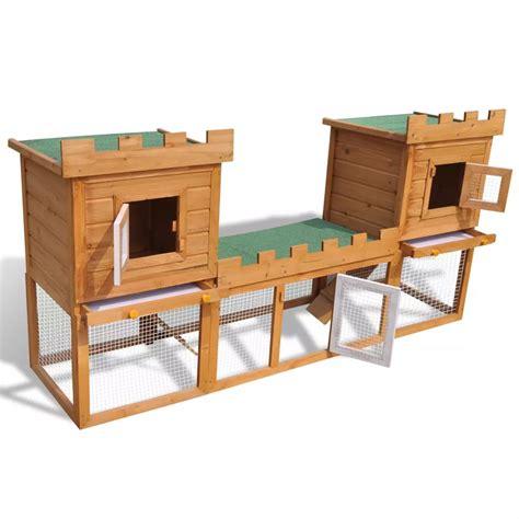 gabbie esterne per conigli articoli per gabbia due casette per conigli da esterno