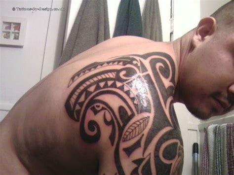half body tribal tattoos tribal half
