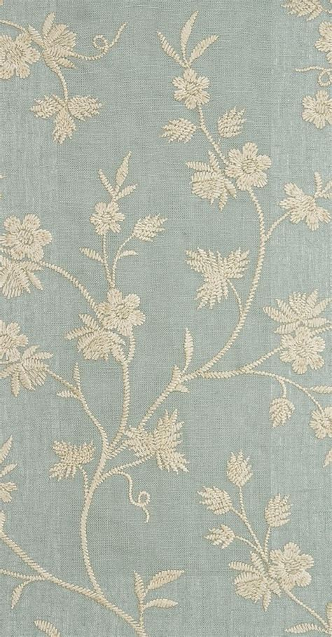 gold pattern linen hermione embroidered curtain fabric sea blue linen curtain