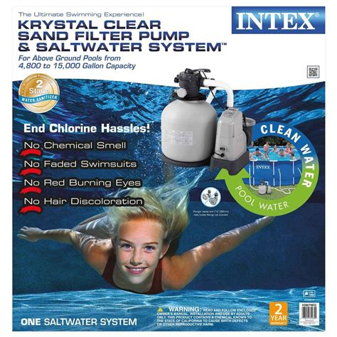 intex 120 volt above ground sand filter pool and