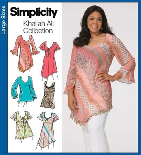 simplicity khaliah ali collection sewing pattern womens