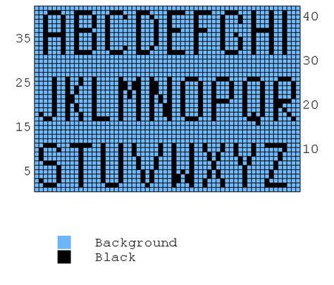 knitting pattern for letters free knitting chart alphabet