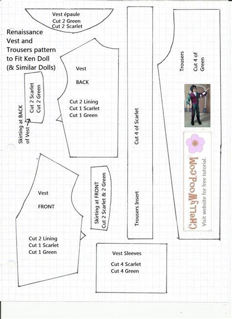 pattern for ken clothes 183 best ken clothes images on pinterest
