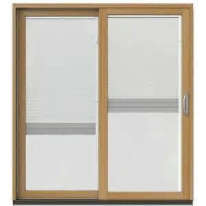home depot sliding door blinds jeld wen 71 1 4 in x 79 1 2 in w 2500 chestnut bronze
