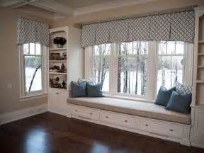 Large Kitchen Window Curtains Valance Box Pleats 3 Windows Great Treatment For Bench Seat Window Treatment