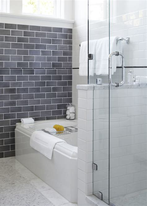 White Grout On Bathroom Floor by Is The Grout Color The Same For Gray White Subway And Floors