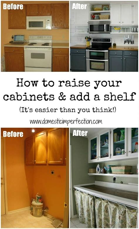 how to add a shelf to a cabinet how to raise your cabinets add a shelf budgeting