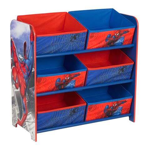 spiderman bedroom stuff spiderman 6 bin toy storage unit bedroom furniture new official ebay