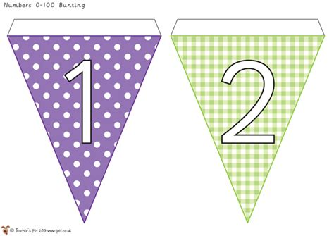 printable banner numbers teacher s pet number bunting 0 50 free classroom