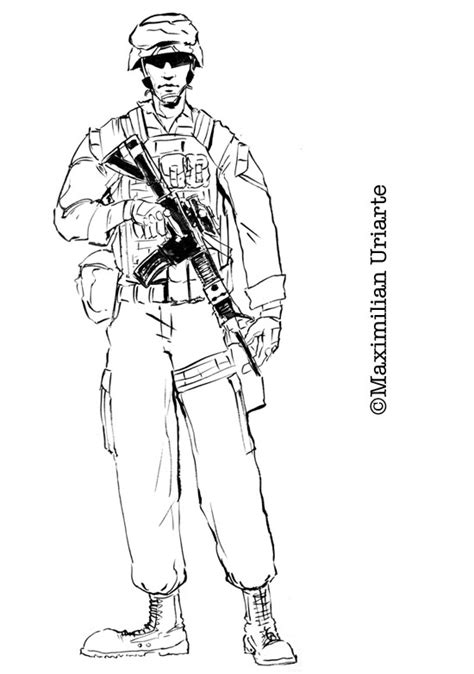 marine corps soldier drawings related keywords marine