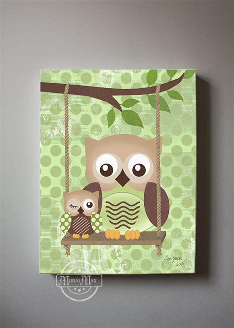Owl Wall Decor by Owl Decor Boys Wall Owl Canvas Baby Nursery Owl
