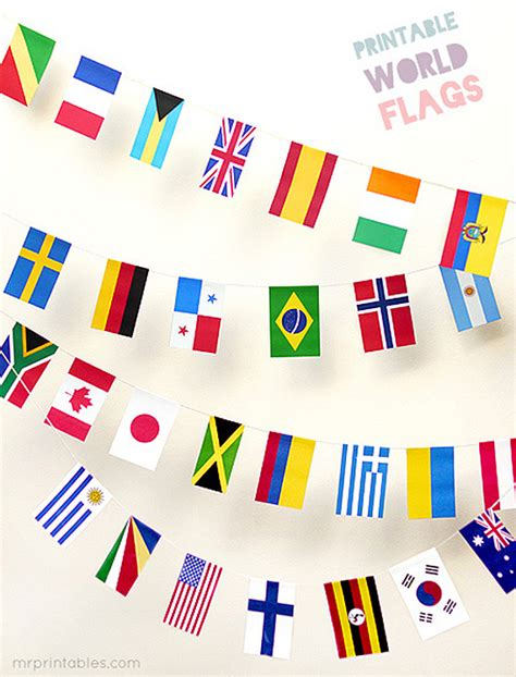 all flags of the world printable printable world flags mr printables
