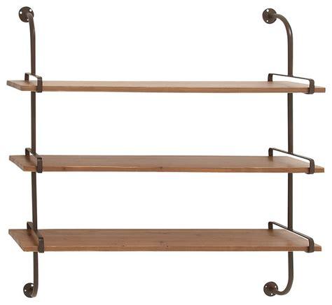 display shelving wood wall shelf industrial display and wall shelves