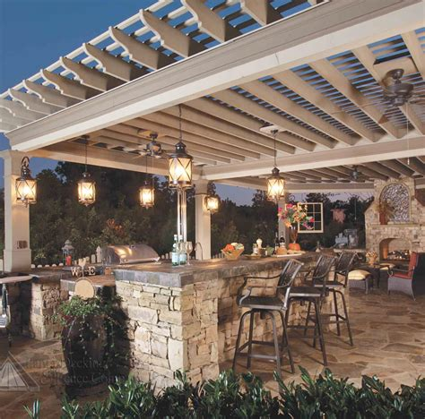 outside kitchens designs custom pergolas west palm beach pergola customized for