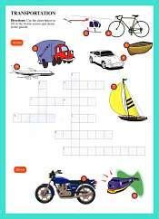 small light flimsy boat crossword crossword and wordserch for kids esl