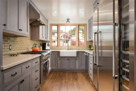 kitchen layout ideas galley gray kitchen galley normabudden com