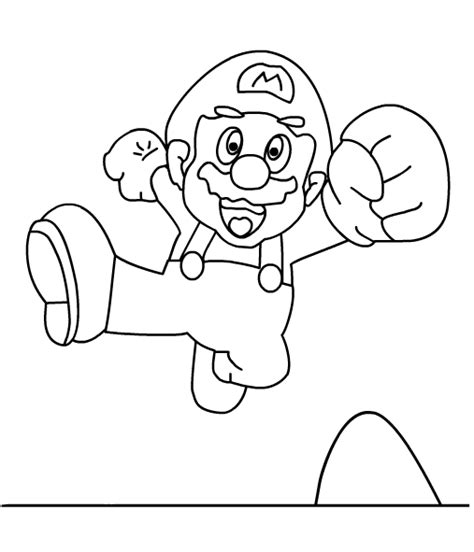 mario jumping coloring page super mario printables
