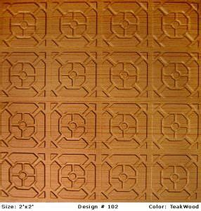 decorative grid and glue popcorn ceiling tiles and