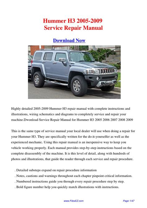 hummer h3 service manual service manual pdf 2009 hummer h3 workshop manuals