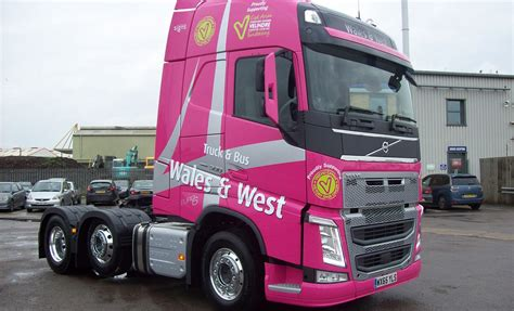volvo commercial dealers truck and wales fh demo supports velindre