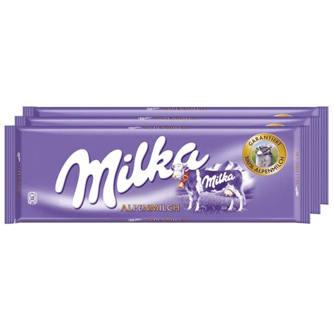 tafel schokolade gramm milka alpenmilch 270g schokolade 3 gro 223 tafeln schokolade