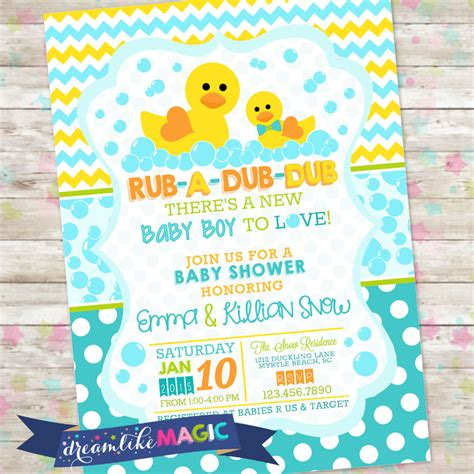 Baby Shower Invitations Rubber Ducky Party Xyz Rubber Ducky Baby Shower Invitations Template Free