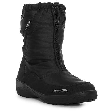 trespass lara womens waterproof winter snow shoes
