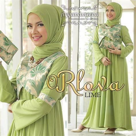 Baju Warna Hijau Lime rlova lime baju muslim gamis modern