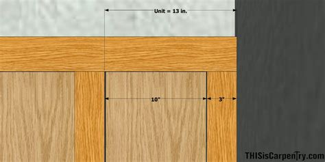 Wainscoting Dimensions wainscot layout made easy thisiscarpentry