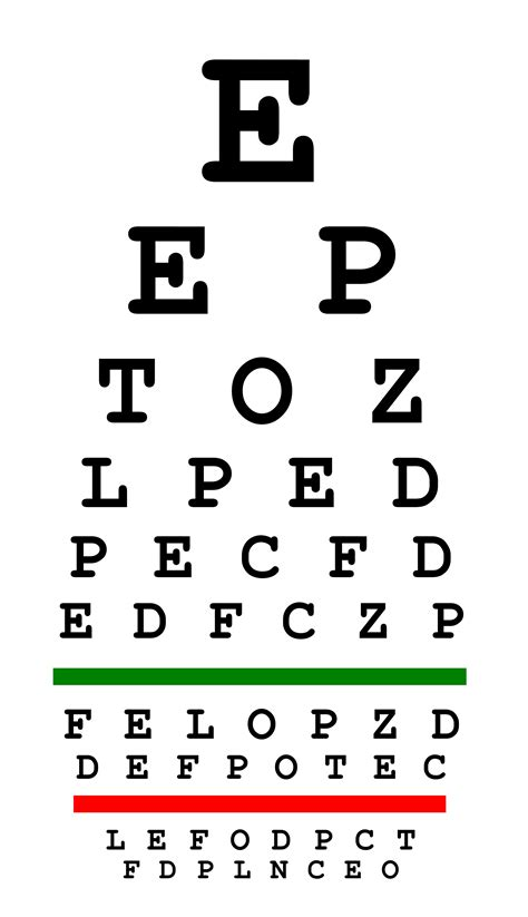 eyesight test free eye chart plano celina optometrist